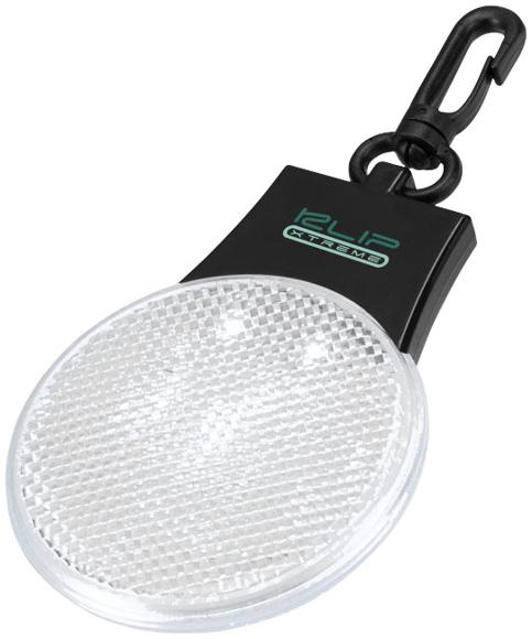 Blinki Reflector Light in white with 3 colour print logo