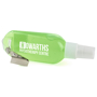 Clip Hand Sanitiser in green with 1 colour print logo