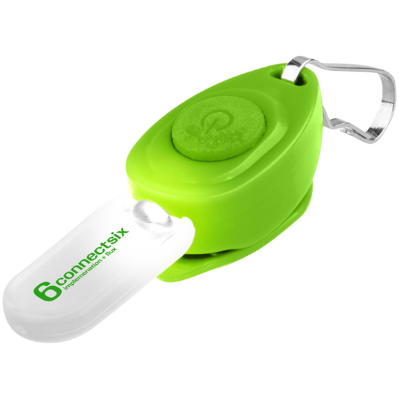 Eagle Zipper Puller Key Light in green with 1 colour print logo