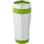 Elwood Travel Tumbler in silver and green