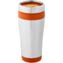 Elwood Travel Tumbler in silver and orange