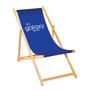 Full Colour Deck Chair in blue with 1 colour print logo