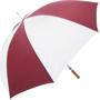 Golf Umbrella Bedford in burgundy and white