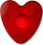 Heart Shaped Safety Light in red