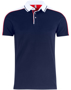 Pittsford Polo Shirt in Navy With Red and White Details