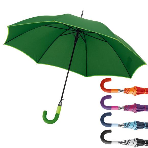 Lexington Umbrella in green with orange, purple, blue and black options