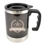 Matisse Travel Mug in black with 2 colour print logo