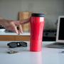 Mighty Mug Go Travel Mug in red showing smart grip
