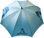 Prosport Deluxe Umbrella in blue with 1 colour print logo top view