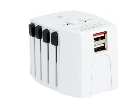 SKROSS® World MUV USB Adaptor & Charger in white