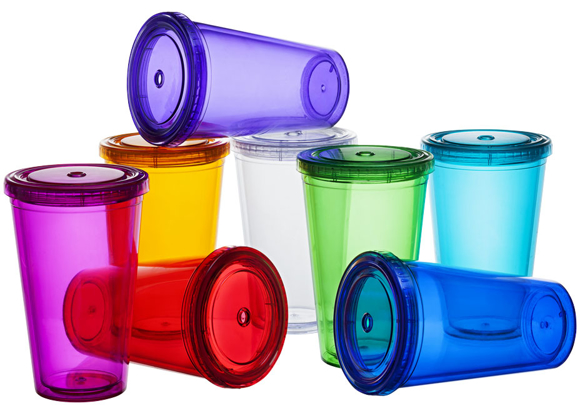 Tumbler with Straw in various colours