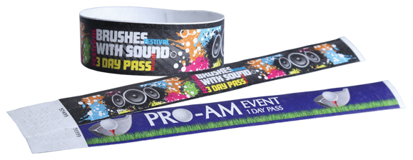 Tyvek Security Wristbands with digital print