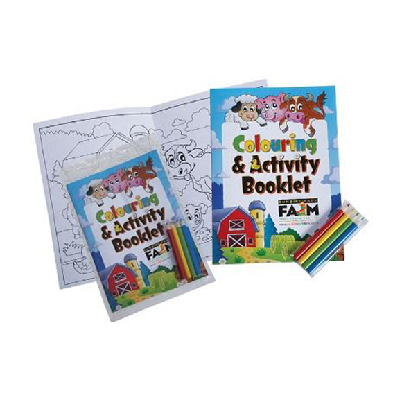 colouring booklet and pencil pack