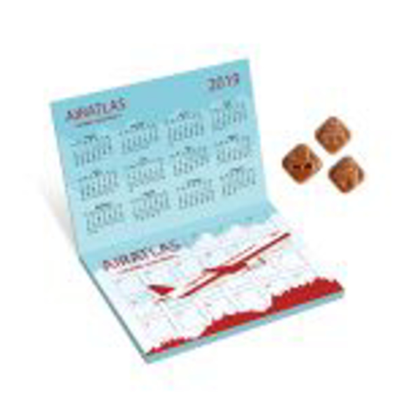 Advent Calendar with Foldover Stand in full colour print with chocolates