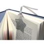 Star Shape Bookmark in silver in book