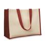 Red and cream shopper bag
