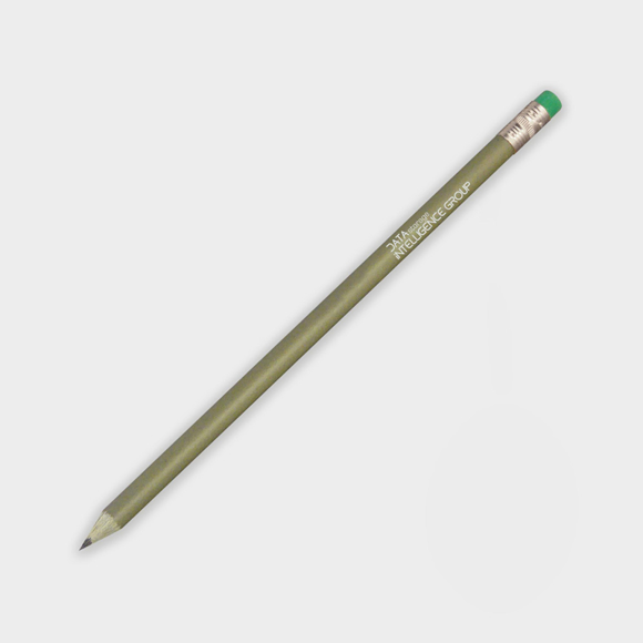 Money Pencil in green with 1 colour print logo