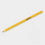 Recycled CD Pencil in yellow with 1 colour print