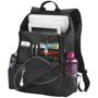 """Benton 15"""" laptop Backpack in black showing inside of backpack"""