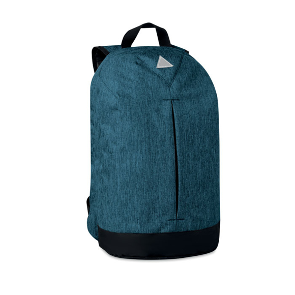 Milano Laptop Rucksack in blue with black details side view