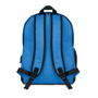 Bapal Tone RFID Rucksack back view in blue with black details