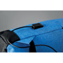 Bapal Tone RFID Rucksack  in blue showing charger slot