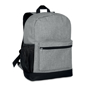 Bapal Tone RFID Rucksack in grey with black details side view
