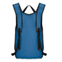 Runy Backpack in blue with black details back view