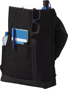 """Thomas 16"""" Laptop Backpack in black showing compartments"""