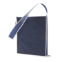 Shoulder shopping bag in blue with white trim