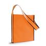 Shoulder shopping bag in orange with black trim