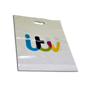Aperture Handle Carrier Bag in white with 5 colour print