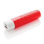 2.200 mAh geometric powerbank in red