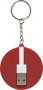 Wrap Around 3-in-1 Charging Cable with Keyring in red and white showing underneath