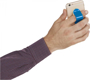 Compress Phone Stand in blue being held