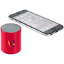 Ditty Bluetooth Speaker in red with 2 colour print logo