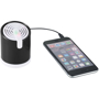 Looney Light Up Speaker in black lit up connected to iPhone