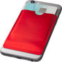 RFID Smartphone Wallet on back of phone in red