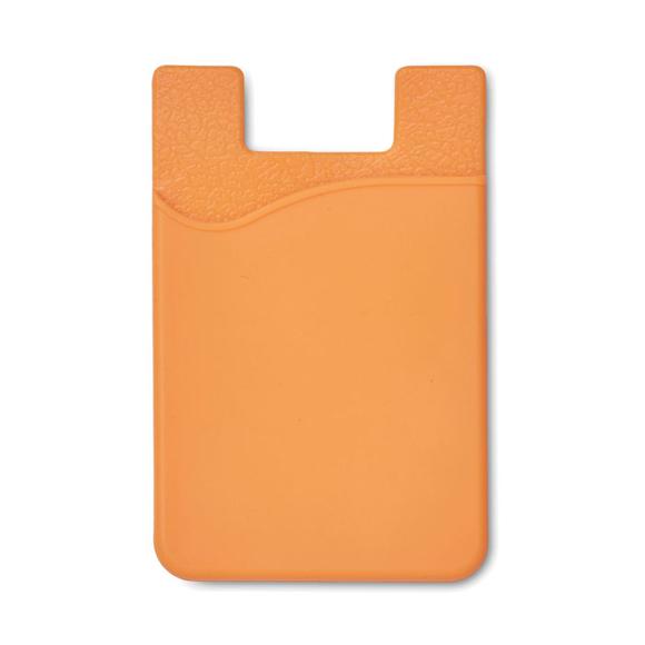 Silicon Phone Card Holder in orange