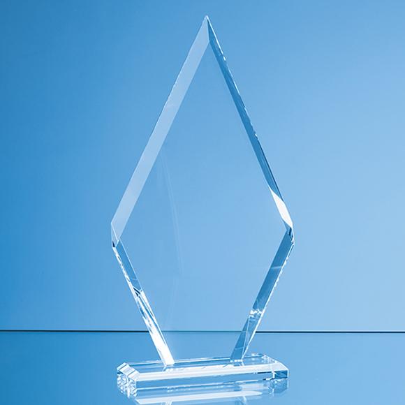 Clear Glass Le' Diamond Award