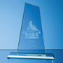 Jade Glass Mountain Award with engraving