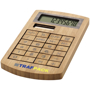 Bamboo Calculator with solar panel and 2 colour print logo
