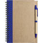 Recycled Notepad and Pen with navy trim and colour match pen