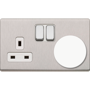 Recycled Plug Socket Protector in white shown in plug