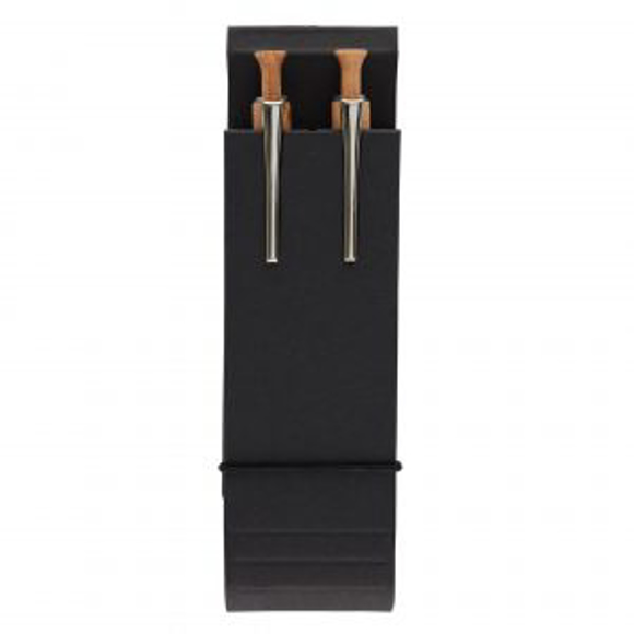 Albero Combination Set with wooden pens in black packaging