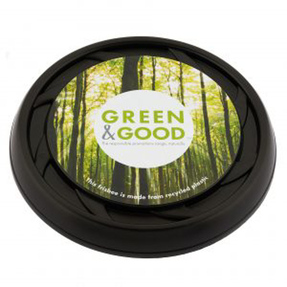 Recycled Frisbee in black with full colour print