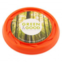 Recycled Frisbee in orange with full colour print