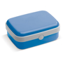 Lunch Box in blue with white trim