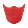Coverface face mask in red shown over face