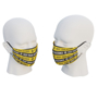 uk made face mask with yellow design